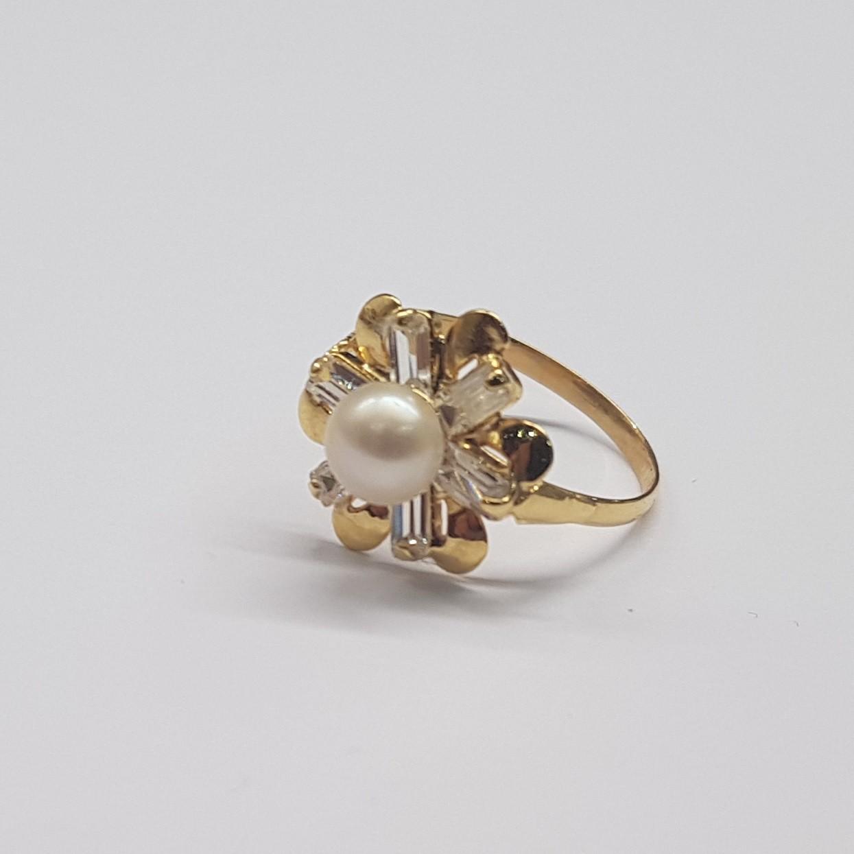b49a892c166 Kuld sõrmus 585* Pärlid - Luutar